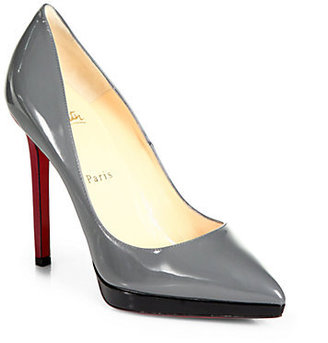 Christian Louboutin Pigalle Plato Patent Leather Platform Pumps