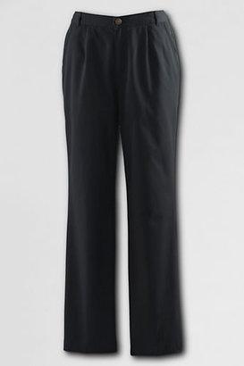 Lands' End Women's Regular Pre-hemmed Elastic Waist Blended Chino Pants