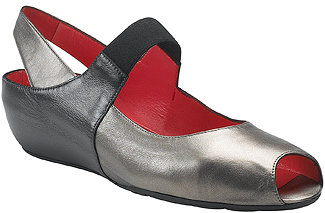 Pas De Rouge Silvia - Leather Demi Wedge