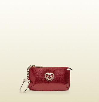 Gucci Shiny Leather Key Case