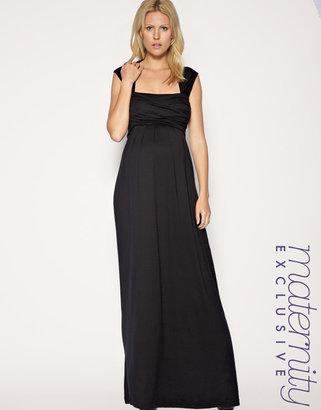 Asos Exclusive Jersey Wrap Bust Maxi Dress