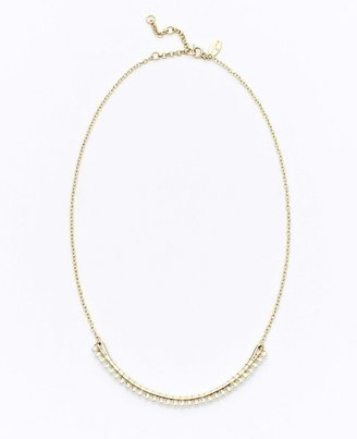 Ann Taylor Crescent Pearlized Short Necklace