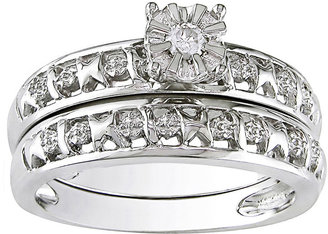MODERN BRIDE Diamond-Accent Bridal Ring Set Sterling Silver