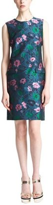 Erdem Sleeveless Floral Jacquard Shift Dress