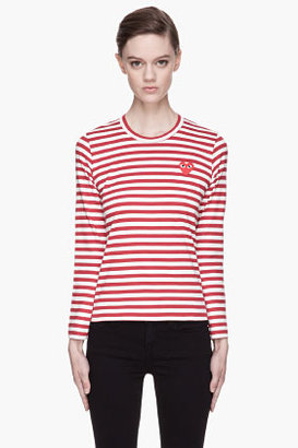 Comme des Garcons Red Striped T-Shirt