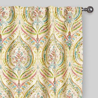 Curtains Ideas cost plus curtains : Cost Plus World Market Multicolor Ogee Concealed Tab Top Curtains ...