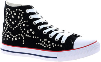Timeless Studded Hi-Top Trainer