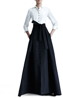 Carolina Herrera Shirtwaist Taffeta Ball Gown $4,690 thestylecure.com