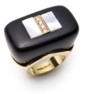 Kara Ross Gold and Diamond Jet Ring