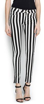 MANGO Super Slim-Fit Coated Striped Jeans