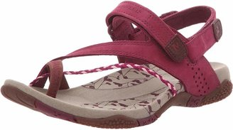 Merrell Siena Raspberry flat women sandals | Outdoor walking summer shoes for ladies | Premium leather and Q-form sole | Size UK 9