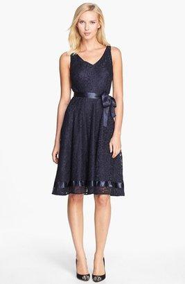 Tahari Lace Fit & Flare Dress