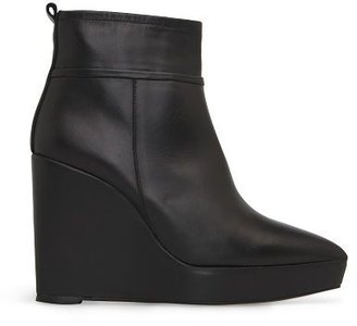 MANGO TOUCH - Leather platform ankle boots