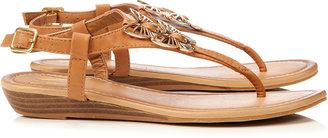 Wallis Brown Wedge Sandal