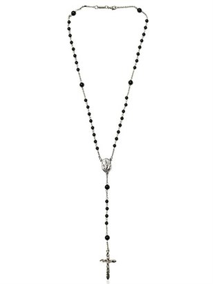 Dolce & Gabbana Onyx Bead Rosary Necklace