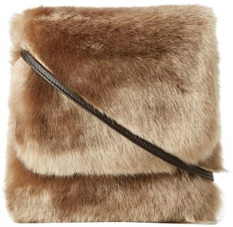 Hat Attack Faux Fur Crossbody (Taupe) - Bags and Luggage