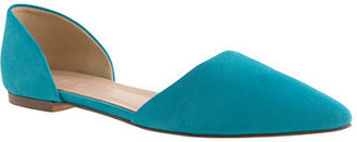 Suede d'Orsay flats $138 thestylecure.com