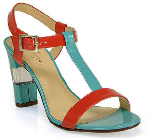 Kate Spade Illaria - Blue and Red Patent Leather Sandal