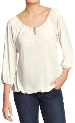Old Navy Women's Tipped-Raglan Jersey Tops