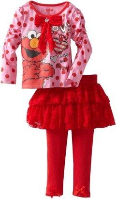 Sesame Street Girls 2-6X 2 Piece Elmo Love You Always And Forever Skegging Set