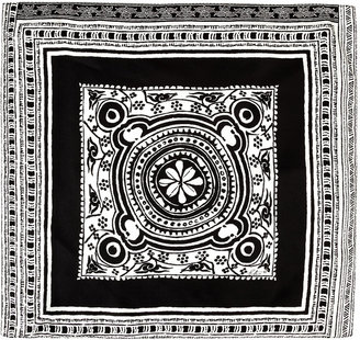 Etro Black/White Patterned Silk Pocket Square