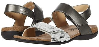 Mephisto Agave (Dark Grey Perl Kid/Boa) Women's Sandals