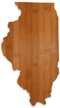 Totally Bamboo Illinois Cutting/Serving Board