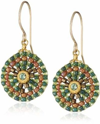 Miguel Ases Small Round Drop Earrings
