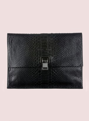 Proenza Schouler Large Lunch Bag Python