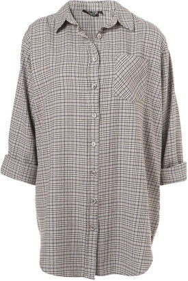 Topshop Oversize Grey Check Shirt