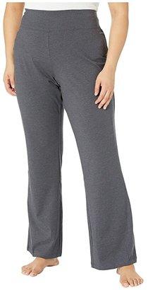 Jockey Active Plus Size Slim Bootleg (Charcoal) Women's Casual Pants