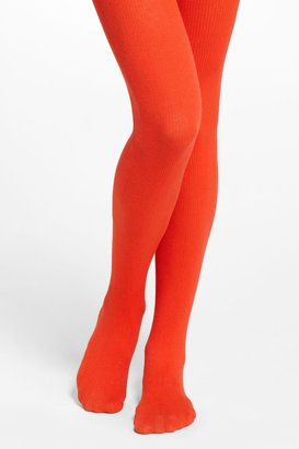 Anthropologie Chromatic Ribbed Tights