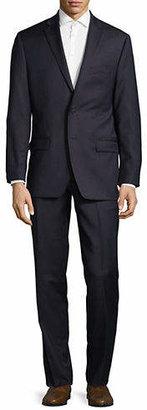 Calvin Klein Regular Fit Solid Textured Wool Suit