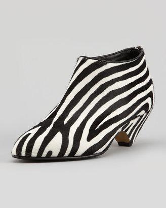 Walter Steiger Zebra-Print Calf-Hair Bootie