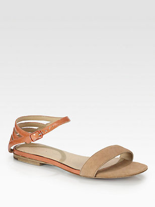 See by Chloe Bicolor Patent Leather & Suede Sandals