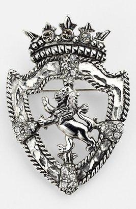 Nordstrom Lion Shield Brooch