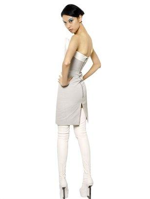 Gareth Pugh Color Block Ottoman Strapless Dress