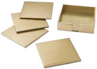 Williams-Sonoma Embossed Croc Leather Coasters, Set of 4