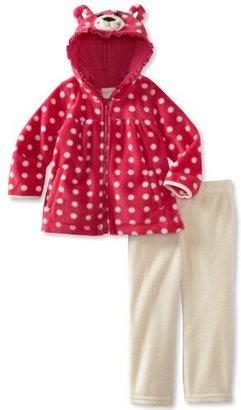 Nannette Baby-Girls Infant 2 Piece Bear Polar Hoodie Set
