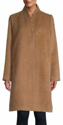 Eileen Fisher High Back Long Wool Coat