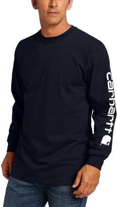 Carhartt mens Signature Sleeve Logo Long Sleeve fashion t shirts