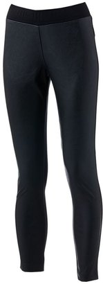 Lbk ponte faux-leather leggings - juniors