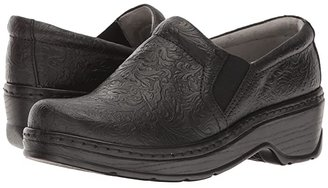 Klogs Footwear Naples (Black Tooled Leather) Women's Clog Shoes