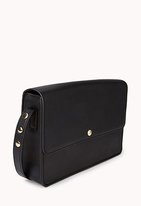 Forever 21 Boxy Faux Leather Crossbody