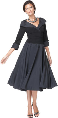 Jessica Howard Portrait Collar A-Line Dress $109 thestylecure.com
