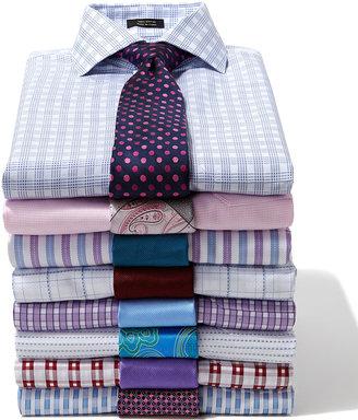 Neiman Marcus Solid Bias Ribbed Silk Tie, Teal