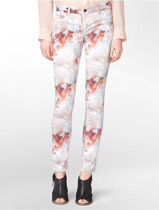 Calvin Klein Ultimate Skinny Floral Watercolor Jeans