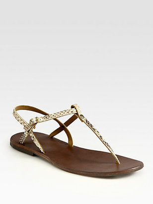 Ishvara Python Slingback T-Strap Sandals