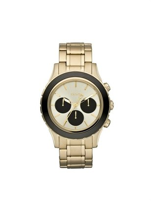 DKNY Polished Gold Chrono Watch with Black Dials