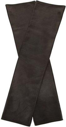 Jil Sander fingerless leather gloves